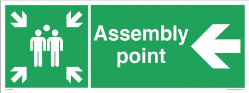 Fire assembly point - left